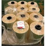 11 x Rolls of Packaging Film For Food Use | 380mm Width | 25 Gauge | 1500mtrs