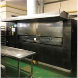 Acrivarn 18 Pan Reel Gas Oven w/ Extraction Canopy | Advised YOM: 1995 | Approx Size: 3.9m W x 2.25M