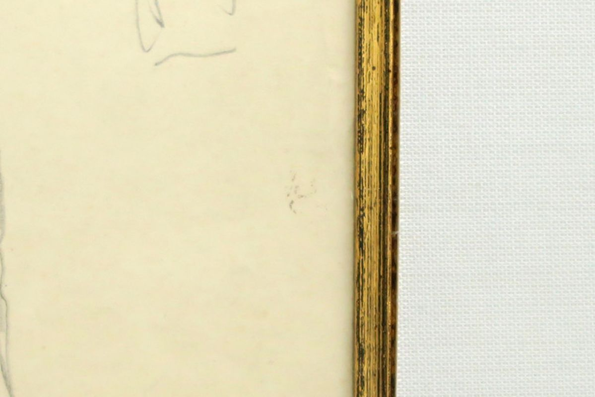 VAN DEN BERGHE FRITS (1883 - 1939) studietekening voor een man, een ontwerp voor een [...] - Bild 3 aus 3