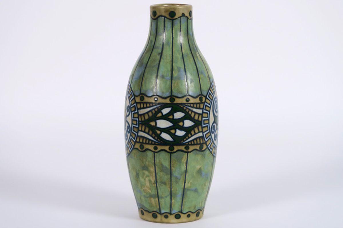CATTEAU CHARLES (1880 - 1966) Art Deco-vaas (model n° 897) in grès met een decor [...] - Bild 2 aus 4