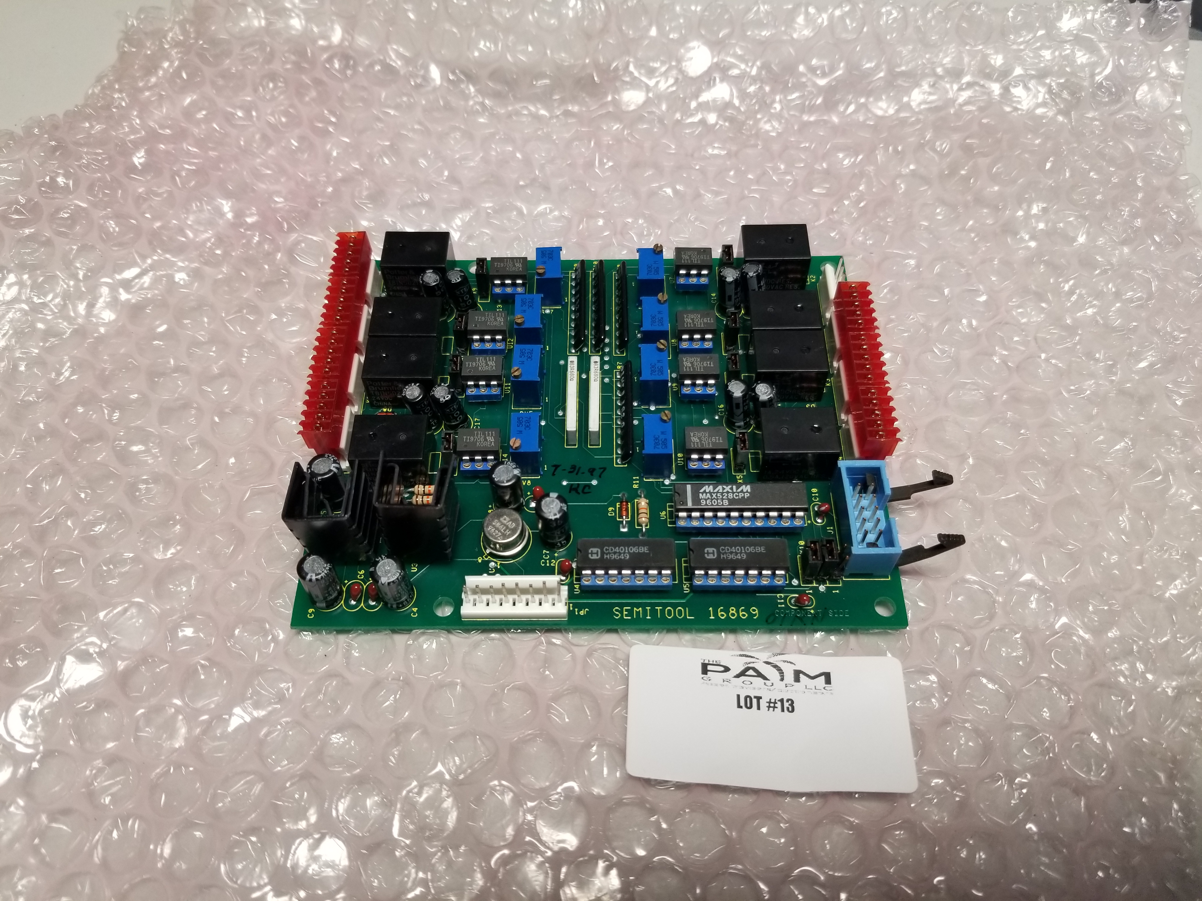 Lot 13 - Unused Semitool Pump Interface Board