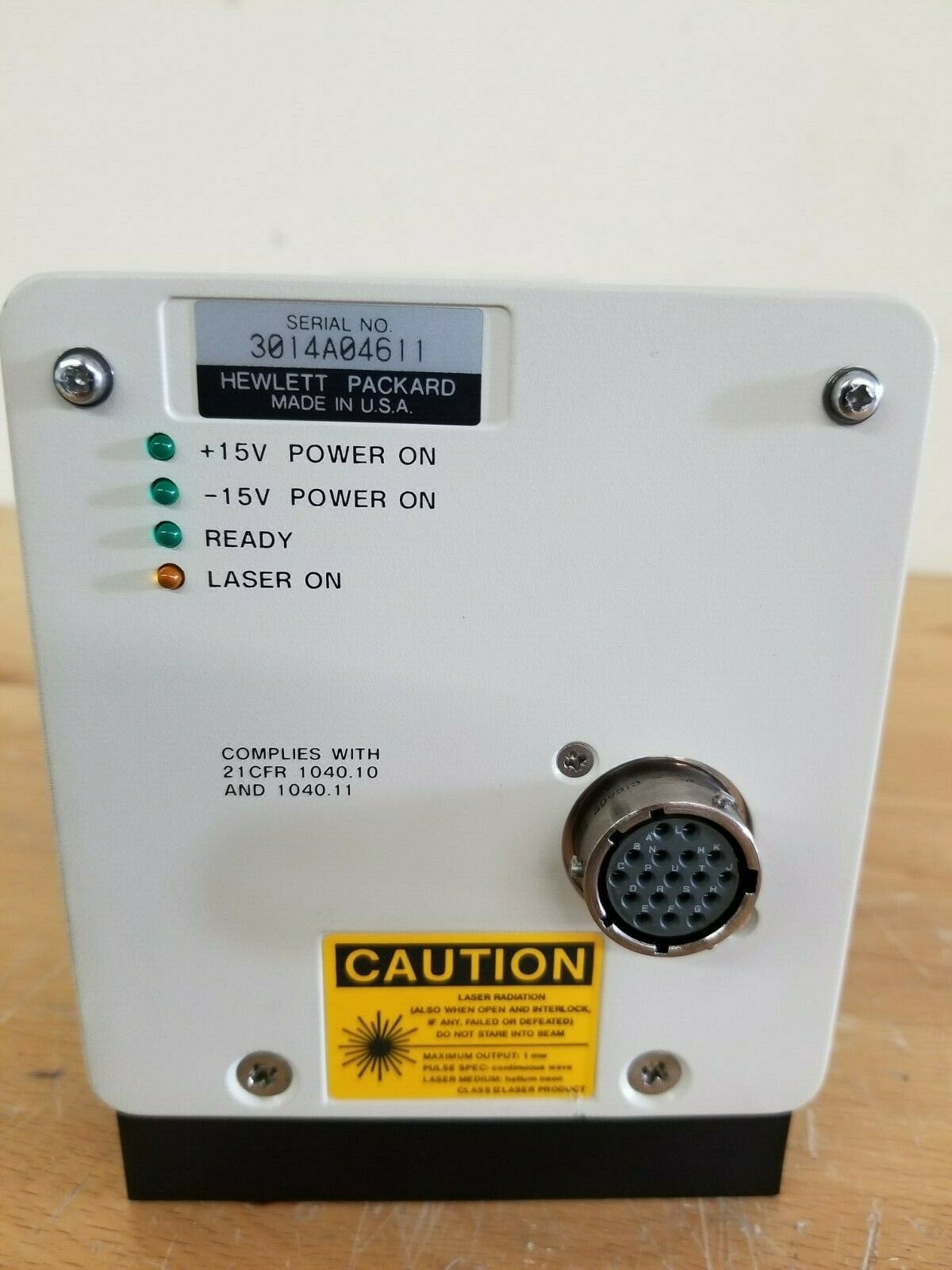 Lot 20A - HP 5517B HeNe Laser Head
