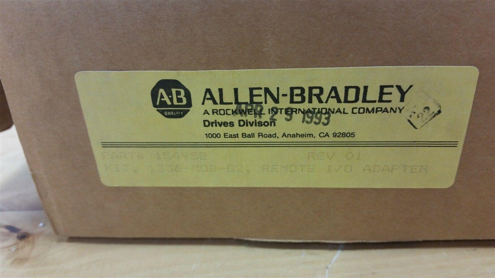 Lot 14A - NEW ALLEN BRADLEY AC DRIVE 1336-MOD-G2 REV. 01 REMOTE I/O ADAPTER KIT