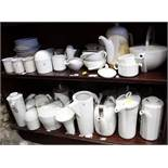 "A quantity of Rosenthal ""Studio Line"" pattern china, including coffee pots, teacups, coffee cups and"