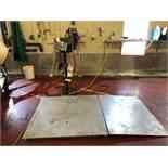 """Mettler Toledo S/S Floor Scale with Ramp, M/N IND246, S/N B608126792, with 48"""" L x 48"""" W Floor Platf"""