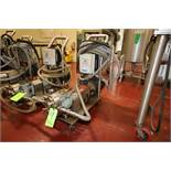 Waukesha Cherry Burrell 5 hp Positive Displacement Pump, M/N 030, S/N 297483-01, with Marathon 1740