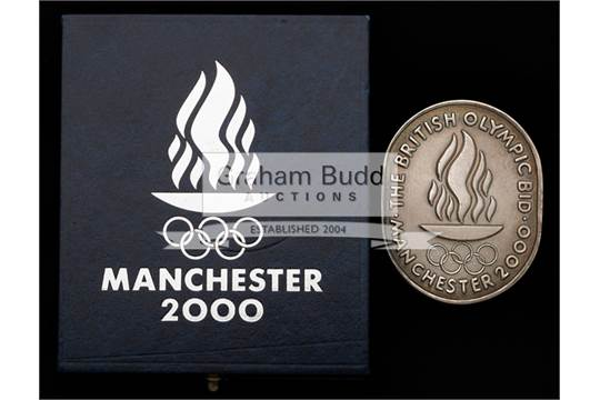 Rare Manchester British Olympic Bid Medal For The 2000 Olympic Games Hallmarked Silver Mancheste