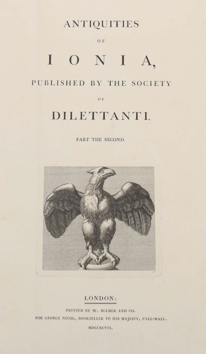 Chandler, Richard Antiquities of Ionia published by the Society of Dilettanti, London, Bulmer & - Bild 2 aus 7