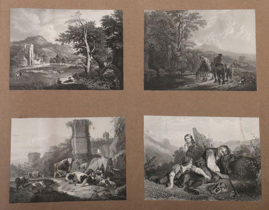 Album Mit ca. 180 eingeklebten Personen-, Stadt- und Landschaftsdarstellungen, verschiedene - Bild 8 aus 10