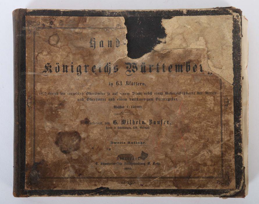 Bauser, G. Wilhelm (bearb.) Hand-Atlas des Königreichs Württemberg in 63 Blättern, Stuttgart, - Bild 2 aus 7