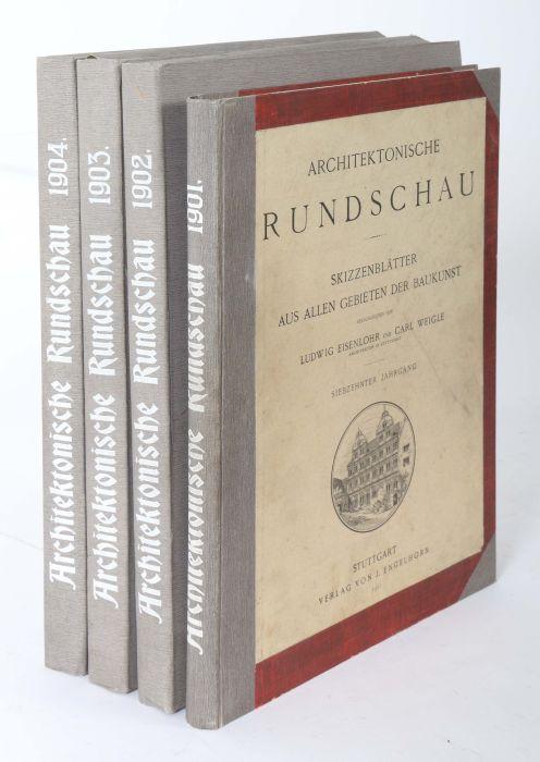 Architektonische Rundschau Skizzenblätter aus allen Gebieten der Baukunst, hrsg. von Ludwig - Bild 2 aus 6