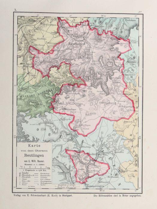 Bauser, G. Wilhelm (bearb.) Hand-Atlas des Königreichs Württemberg in 63 Blättern, Stuttgart, - Bild 5 aus 7