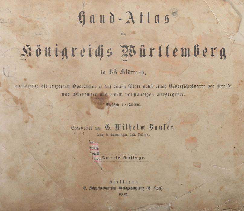 Bauser, G. Wilhelm (bearb.) Hand-Atlas des Königreichs Württemberg in 63 Blättern, Stuttgart, - Bild 3 aus 7