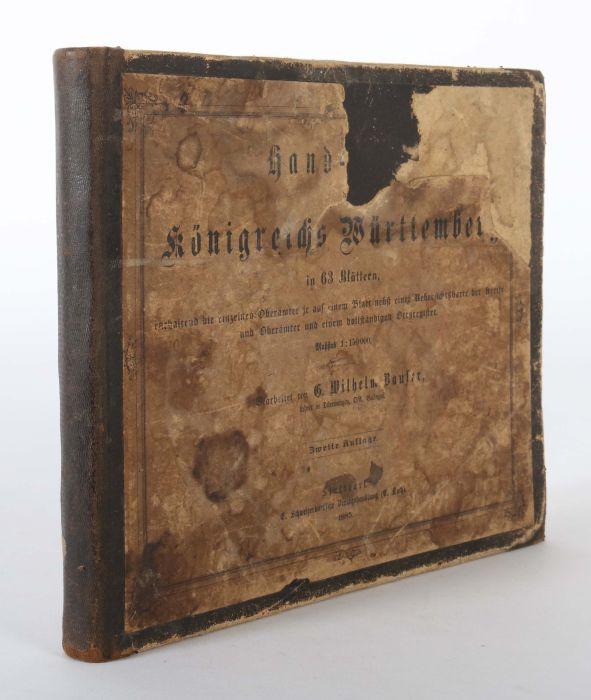 Bauser, G. Wilhelm (bearb.) Hand-Atlas des Königreichs Württemberg in 63 Blättern, Stuttgart, - Bild 7 aus 7