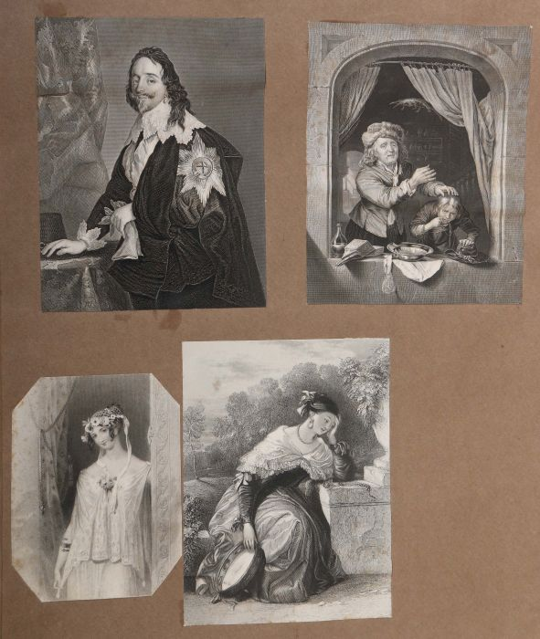 Album Mit ca. 180 eingeklebten Personen-, Stadt- und Landschaftsdarstellungen, verschiedene - Bild 6 aus 10