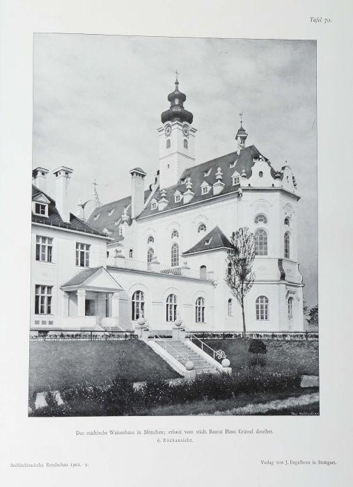 Architektonische Rundschau Skizzenblätter aus allen Gebieten der Baukunst, hrsg. von Ludwig - Bild 6 aus 6