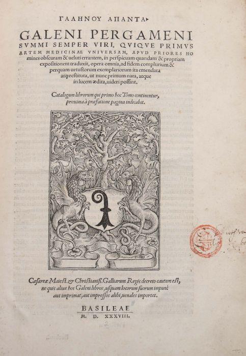 Galenus Galeni Pergameni Svmmi Semper Viri, Qviqve Primvs Artem Medicinae Vniversam, Apvd Priores - Bild 3 aus 5