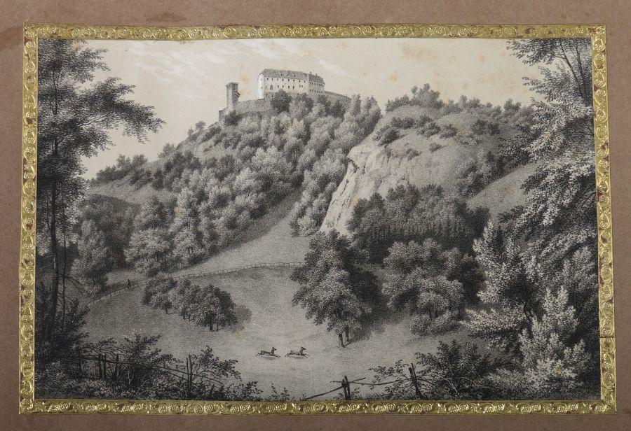 Album Mit ca. 180 eingeklebten Personen-, Stadt- und Landschaftsdarstellungen, verschiedene - Bild 4 aus 10
