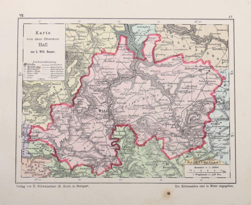 Bauser, G. Wilhelm (bearb.) Hand-Atlas des Königreichs Württemberg in 63 Blättern, Stuttgart, - Bild 6 aus 7