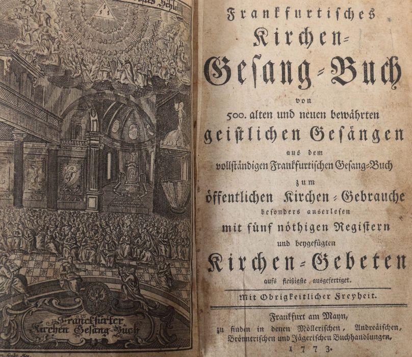 Frankfurtisches Kirchen-Gesang-Buch von 500. alten und neuen bewährten geistlichen Gesängen aus de - Bild 2 aus 3
