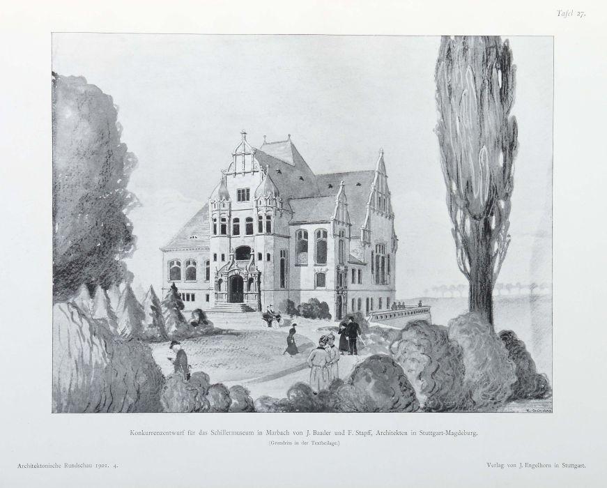 Architektonische Rundschau Skizzenblätter aus allen Gebieten der Baukunst, hrsg. von Ludwig - Bild 5 aus 6