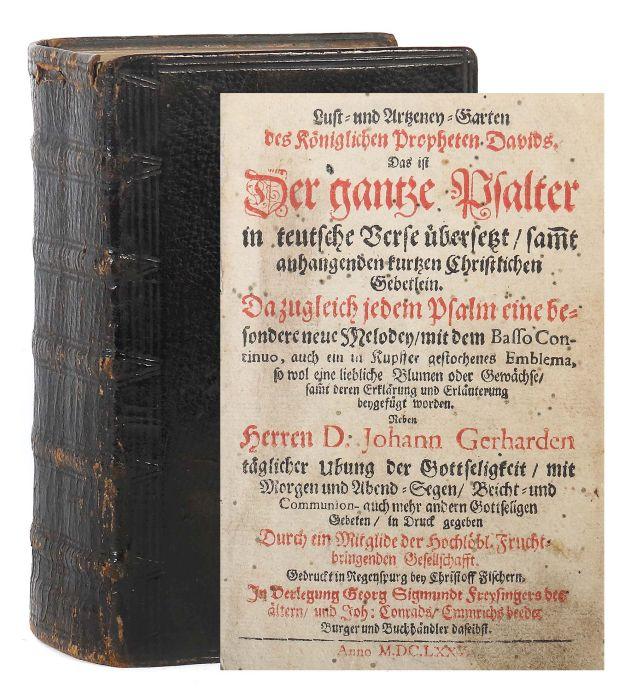 Hohberg, Wolf Helmhardt von Lust- und Artzeney-Garten des Königlichen Propheten Davids. Das ist Der