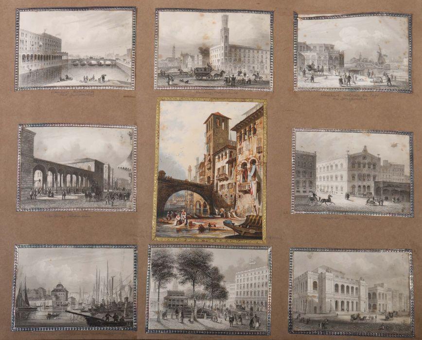 Album Mit ca. 180 eingeklebten Personen-, Stadt- und Landschaftsdarstellungen, verschiedene - Bild 5 aus 10