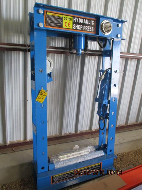 50-ton hyd shop press, unused
