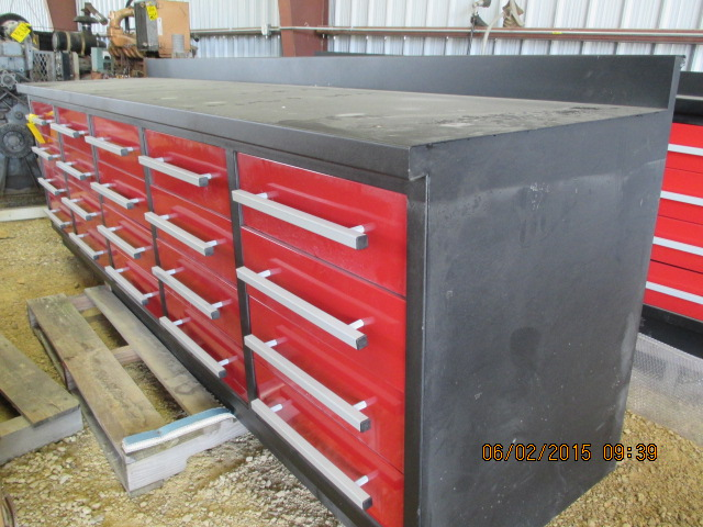 9' steel work bench w/drawers - Image 2 of 3