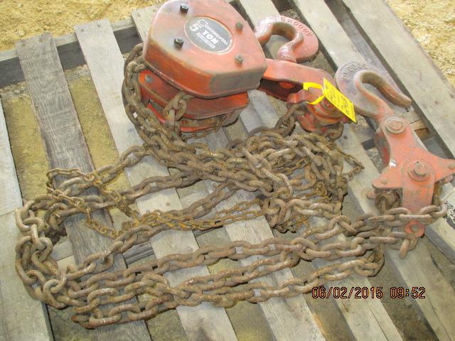 Continental 5-ton chain hoist