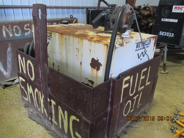 Fuel tank w/elec pump in steel container - Image 2 of 2