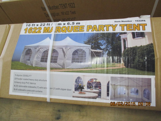 16' x 22' party tent