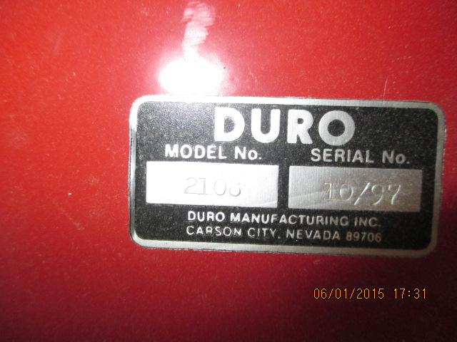 Duro model 2108 hose/reel - Image 2 of 2