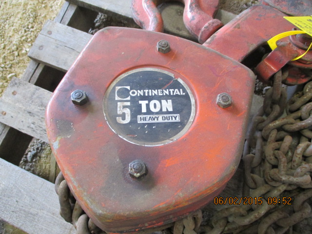 Continental 5-ton chain hoist - Image 2 of 2