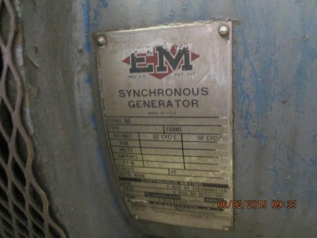 EM gen set, 75 KVA, Cummins dsl, 6-cyl, no radiator - Image 3 of 3
