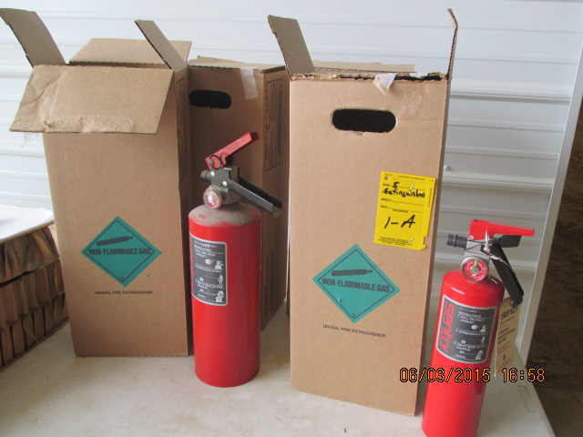 (5) fire extinguishers-all one lot