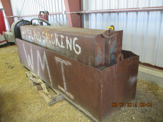 Fuel tank w/elec pump & steel container