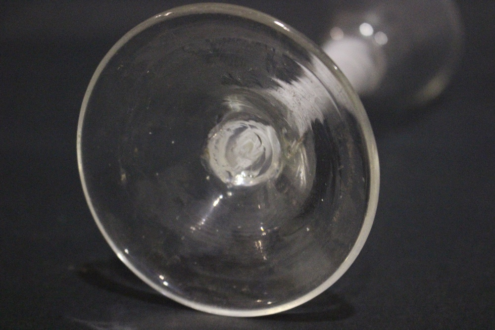 """AN 18TH CENTURY DOUBLE OPAQUE TWIST STEM WINE GLASS, 6.75"""" tall approx, in excellent condition - Image 5 of 5"""