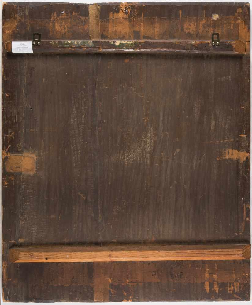 Lot 9 - FlämischRuhe auf der Flucht nach ÄgyptenÖl auf Holz. (Frühes 17. Jh.). 92 x 75,5 cm.Provenienz: