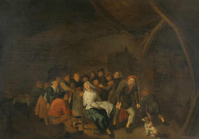 Lot 12 - Jan Miense Molenaer und Werkstattum 1610 - Haarlem - 1668Fröhliche Bauerngesellschaft in einem