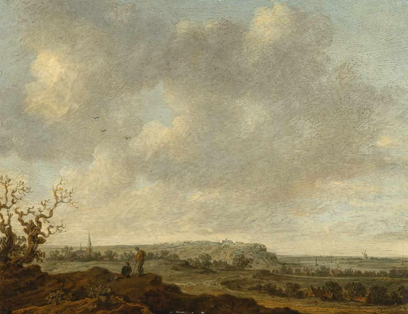Lot 4 - Wouter Knyffum 1605/07 Wesel - Bergen op Zoom 1694Weiter Fernblick auf den Elterberg mit Abtei und