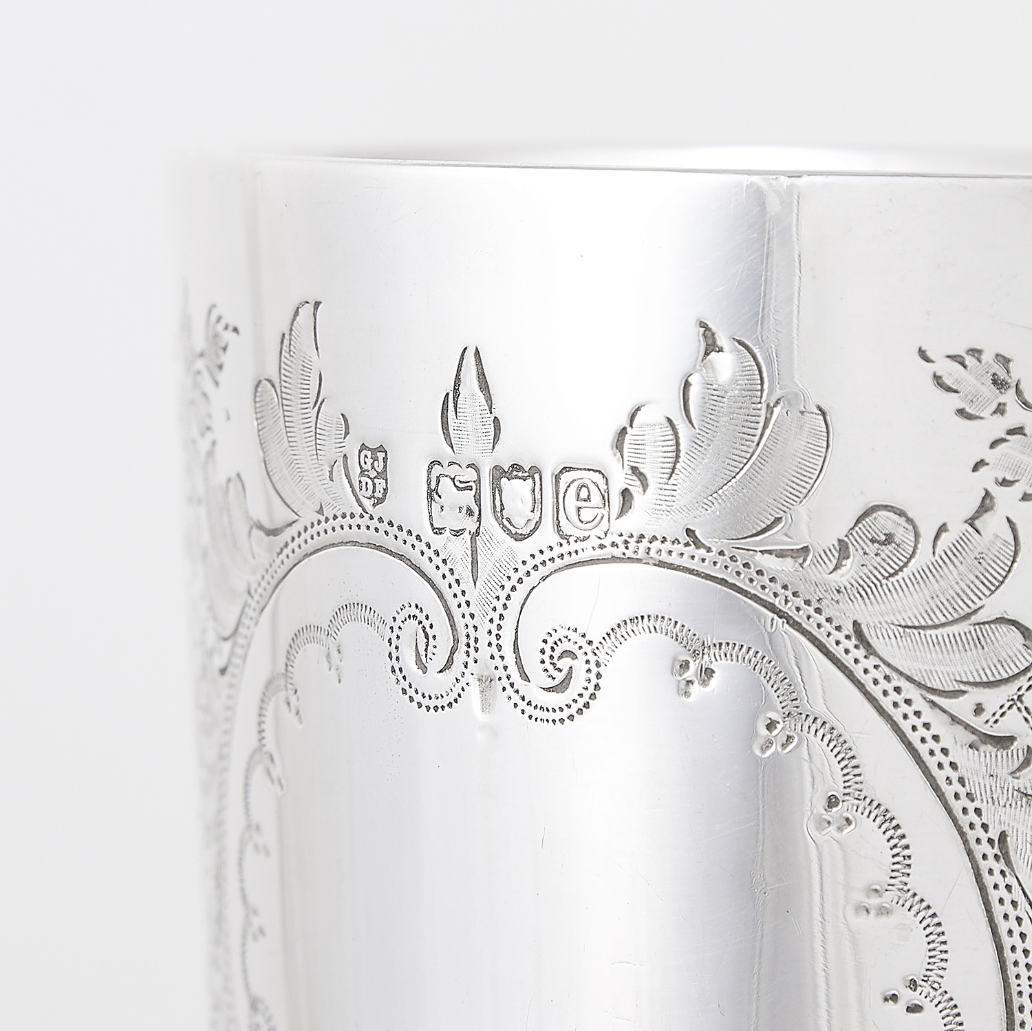 ANTIQUE VICTORIAN STERLING SILVER GOBLET, JACKSON FULLERTON, LONDON 1900 the rounded body with - Image 3 of 3