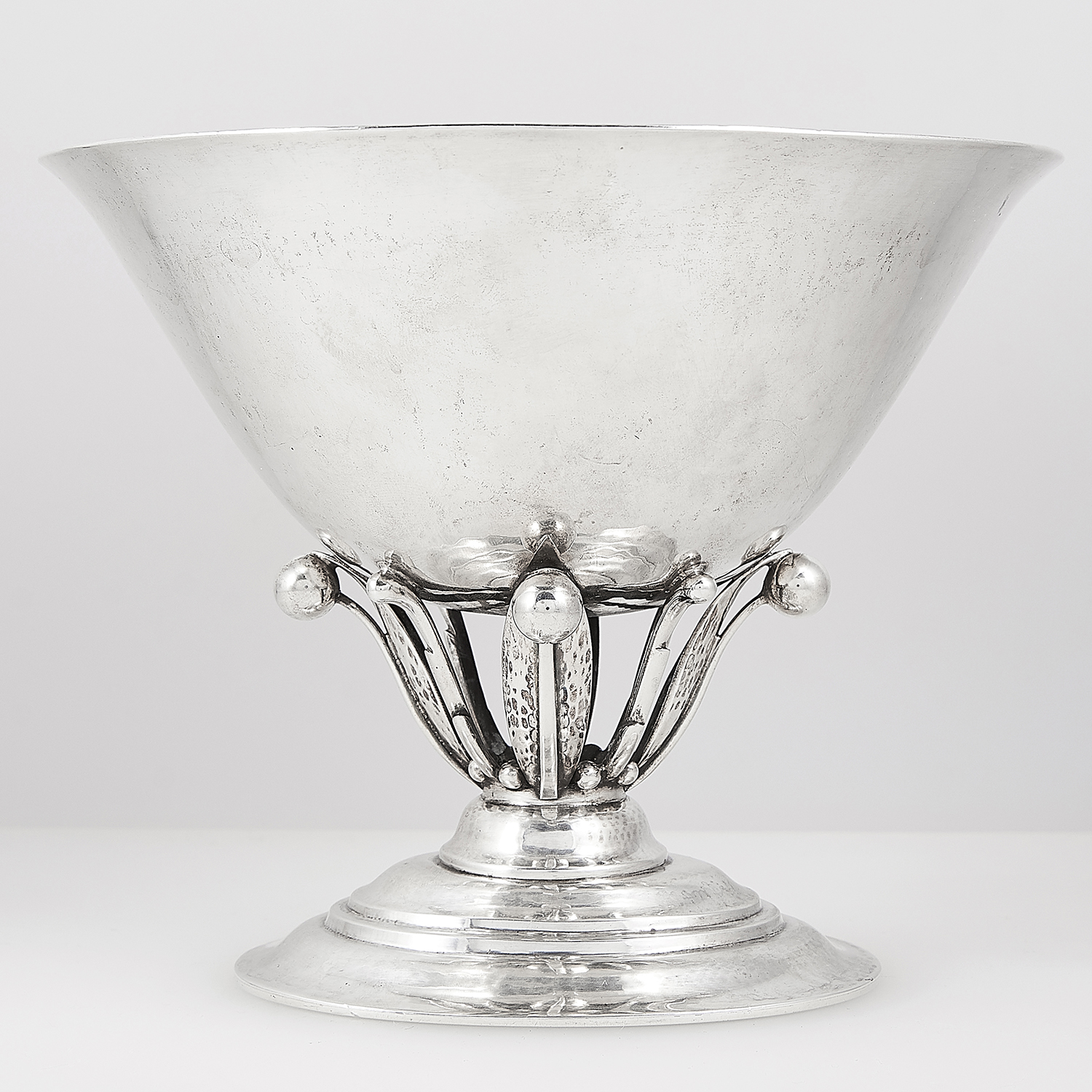 ANTIQUE DANISH STERLING SILVER BOWL, GEORG JENSEN, CIRCA 1927-30 designed by Johan Rohde (1856-1935)