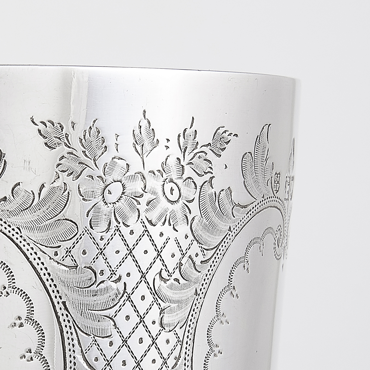 ANTIQUE VICTORIAN STERLING SILVER GOBLET, JACKSON FULLERTON, LONDON 1900 the rounded body with - Image 2 of 3