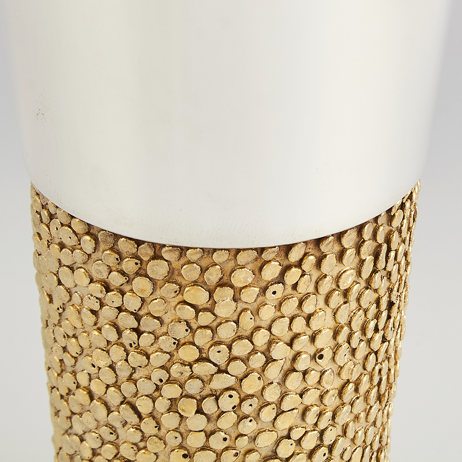 Los 70 - SET OF FOUR STERLING SILVER GILT BEAKERS, CHRISTOPHER LAWRENCE LONDON 1969 each of tapering form,