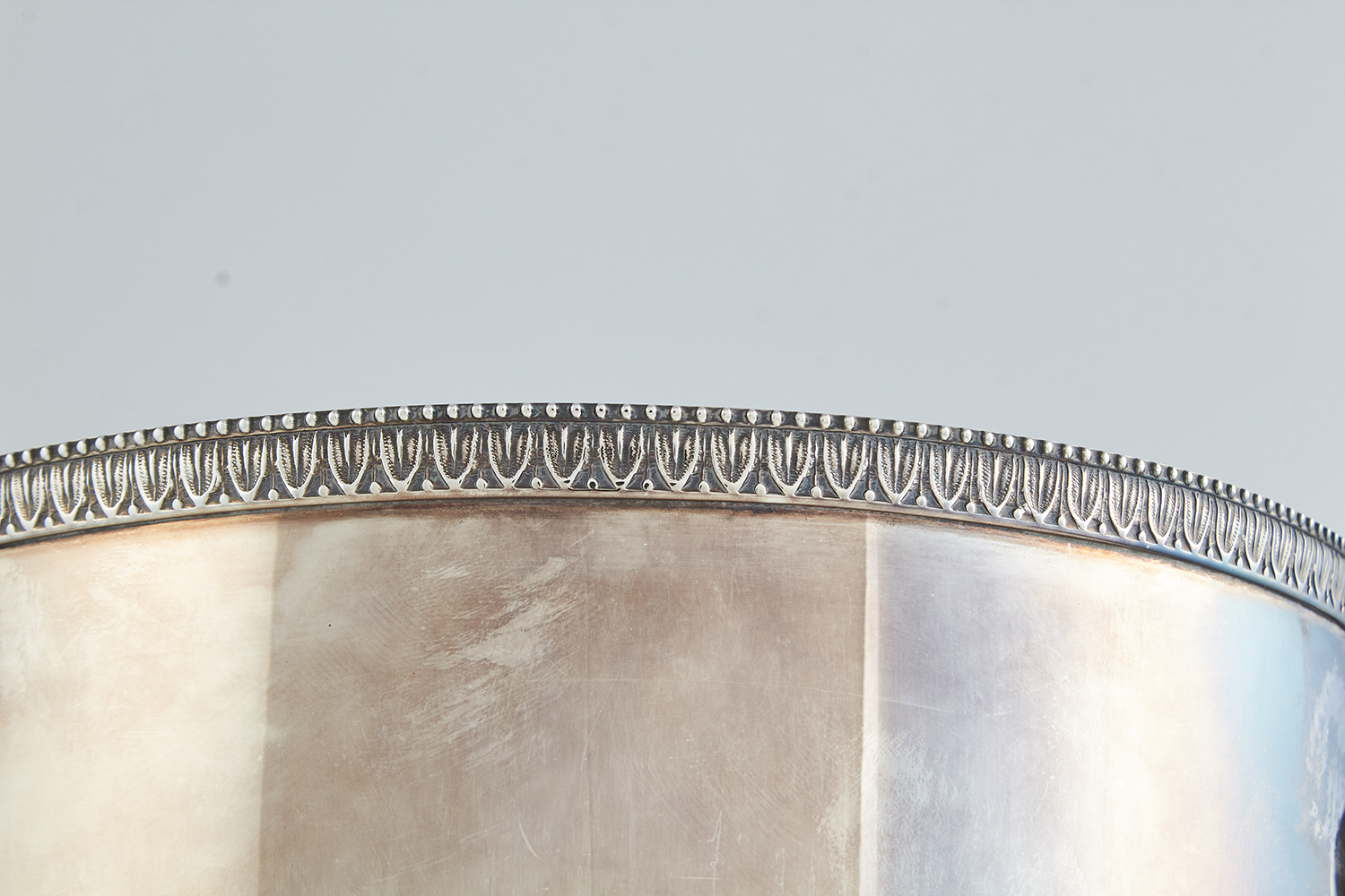 VINTAGE ITALIAN SILVER WINE COOLER BY CALDERONI, CIRCA 1960 the tapering body in plain design, - Image 4 of 4