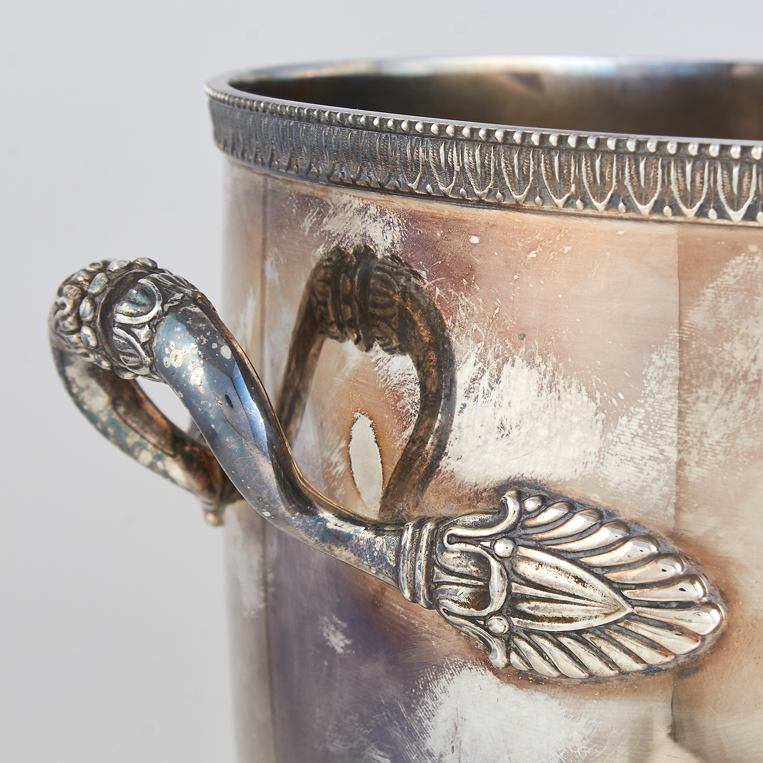 VINTAGE ITALIAN SILVER WINE COOLER BY CALDERONI, CIRCA 1960 the tapering body in plain design, - Image 3 of 4