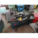 CLAUSING COLCHESTER ENGINE LATHE, 13 IN. X 40 IN., SS TO 1800 RPM, 5C COLLET SPINDLE, NO CHUCK, S/N