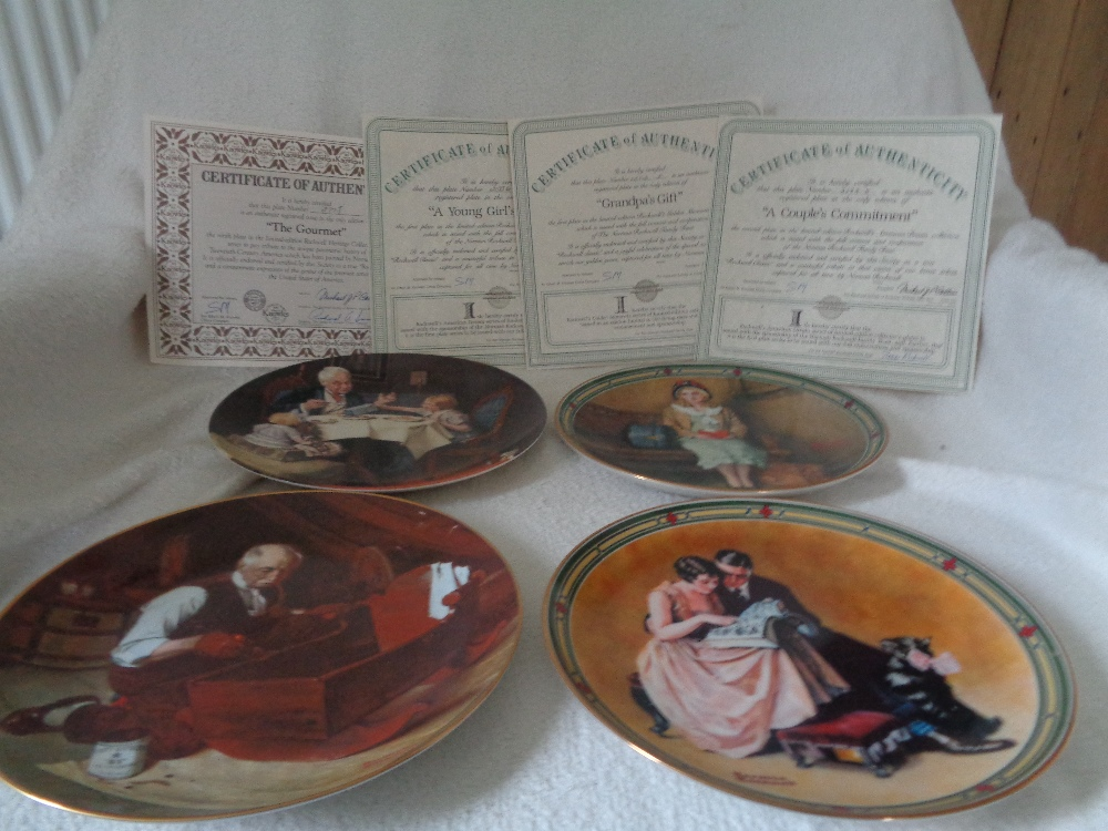 Lot 10 - EDWIN KNOWLES NORTH AMERICAN CHINA COMPANY 4 x LIMITED EDITION ALL CERTIFICATES