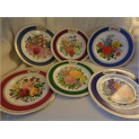 "Lot 22 - RHS CHELSEA PLATE COLLECTION 29 CARAT GOLD 9"" 1988, 1982 1831"